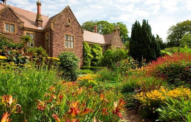 University of Bristol Botanic Gardens, Mixborder the hot border in summer