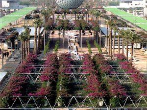 20 años del paisajismo de EXPO 92 (IV): <br>Proyecto Pérgolas, estructura y plantación