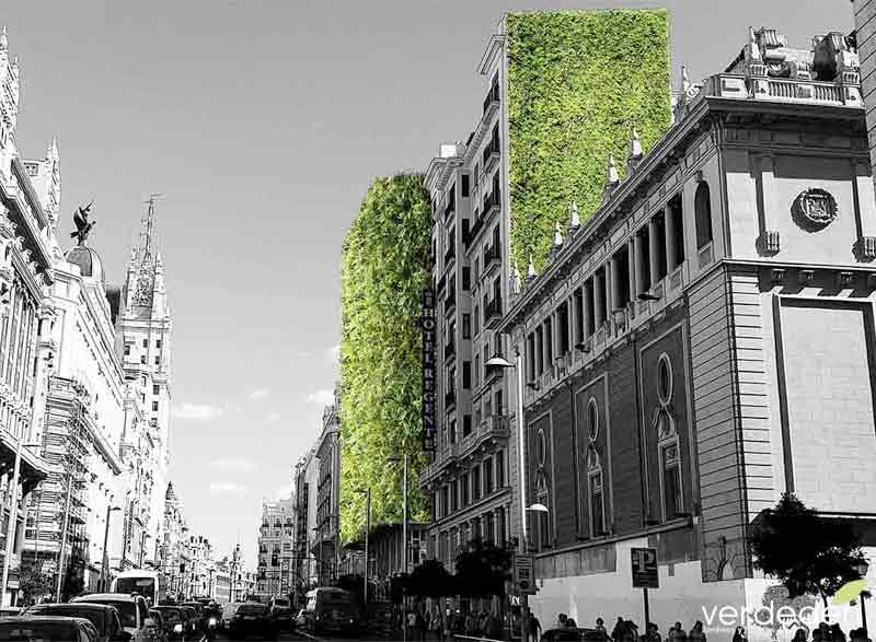 Gran via verde:Jardines en balcones y terrazas