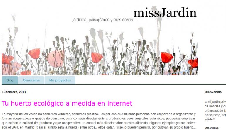 Blogs de jardinería y paisajismo: missjardin